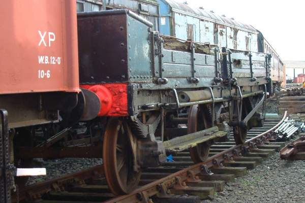 Crane Runner Wagon, North British Railway, BR No.ADE971568 (ex crane RS1062)