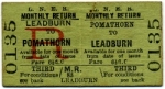 LNER monthly return ticket from Pomathorn to Leadburn